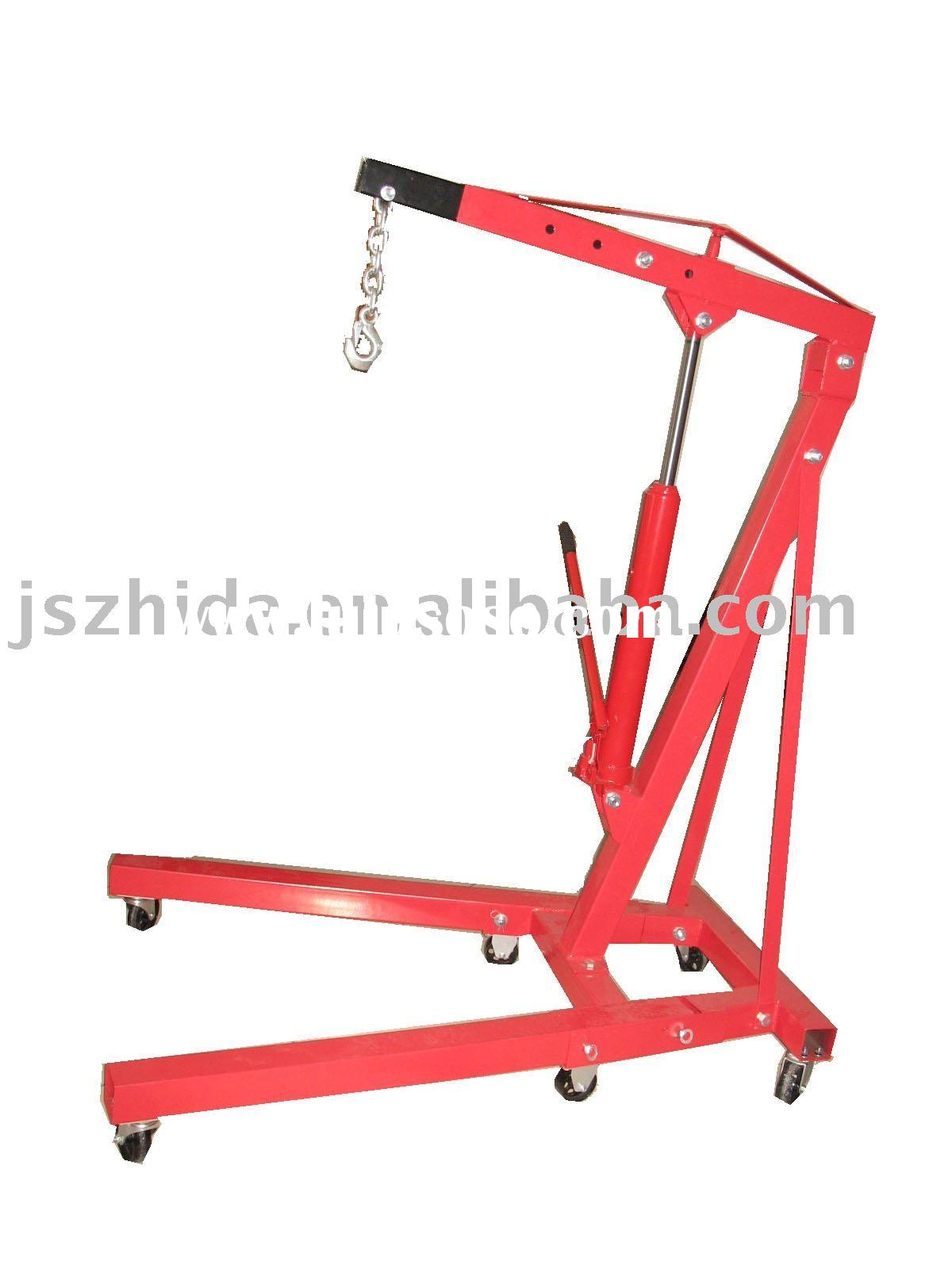 1T folding manual hydraulic crane with CE certificate