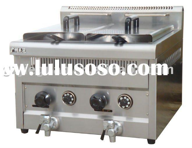 Counter top Gas Fryer with 2tank &2 basket 14L(GF-72A)