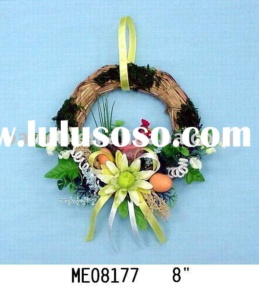Decorative artificial Easter egg flowers wreaths
