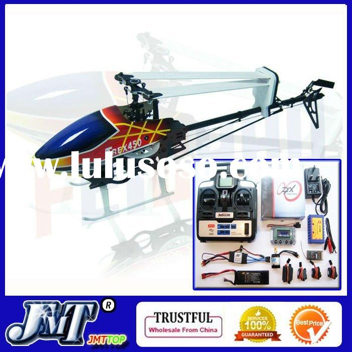 F01926-A Trex 450 Pro Flybarless 3GX 6CH Carbon Metal RC Helicopter RTF+Tarot ZYX 3axis Gyro System