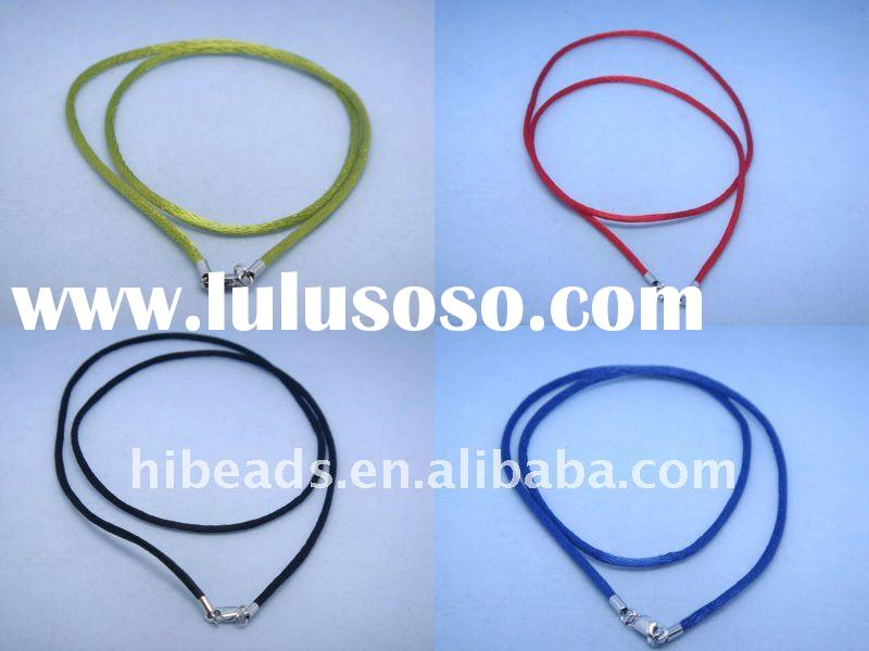 HOT SALE new braided leather cord necklaces LC0030