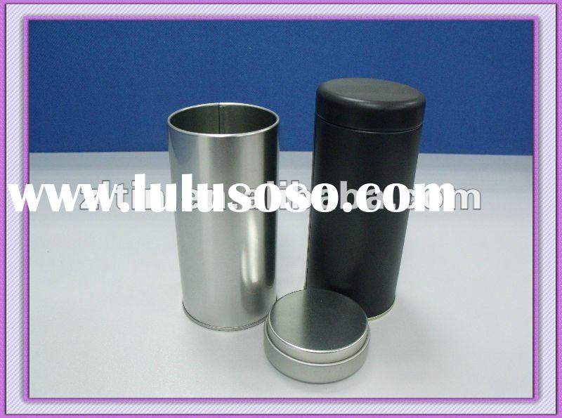 Metal custom tea storage tin can box with lid for promotion