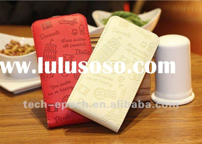 New Arrival wallet case for iphone4,for iphone 4s wallet case,pu leather case cover,open Pouch for i