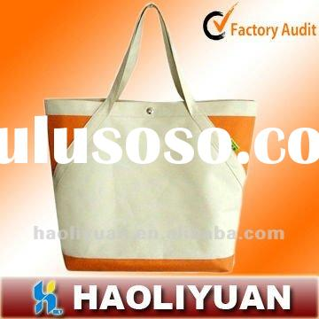 Simple designed recyeled Canvas leisure lady's bag