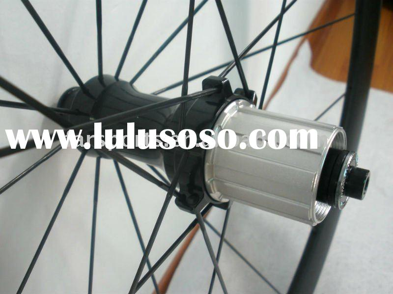 Straight pull tubular carbon wheelset 50mm compatible with Campagnolo,internal nipples
