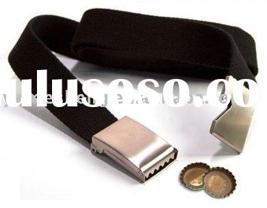 polyester web belt with bottle opener
