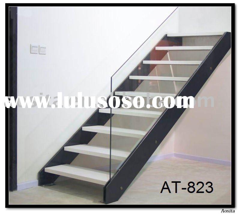 steel and wood arc indoor staircase design for sale On wood and metal staircase design