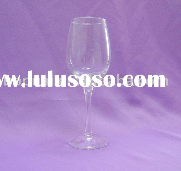 stem glass/cheap wine glass made in china by high white material