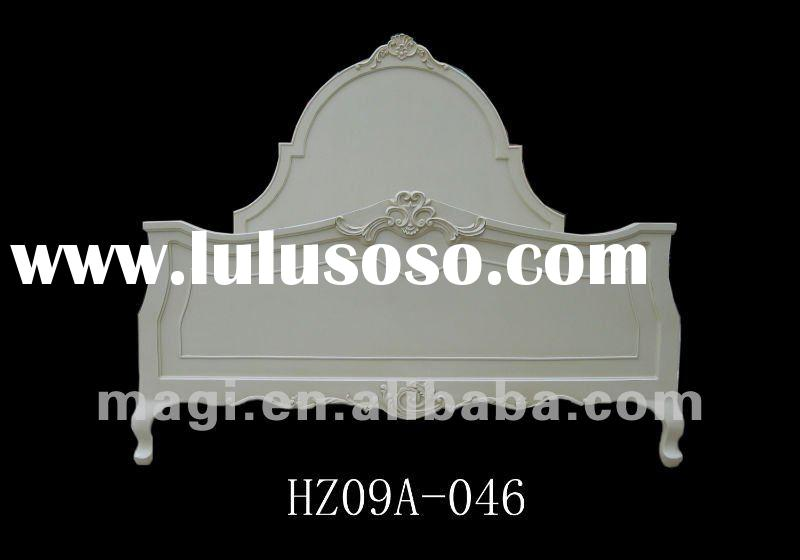 2012 Shabby Chic Design White Solid Wood Bed