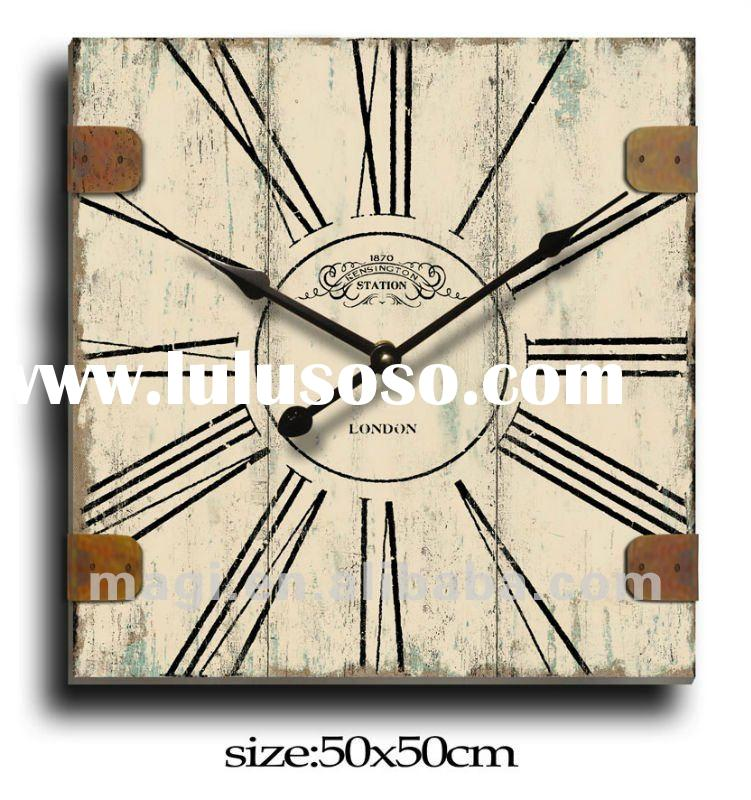 Antique Station London Style Decorative wood wall clock