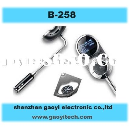 Bluetooth handsfree car kit with steering remote control