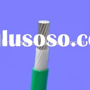 Buried aluminum core PVC insulated and sheathed electrical wire