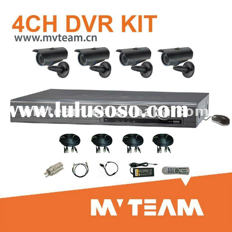 DIY 4CH Surveillance CCTV DVR Security CCTV Equipment with Mobile Android View (CE,FCC,RoHS)