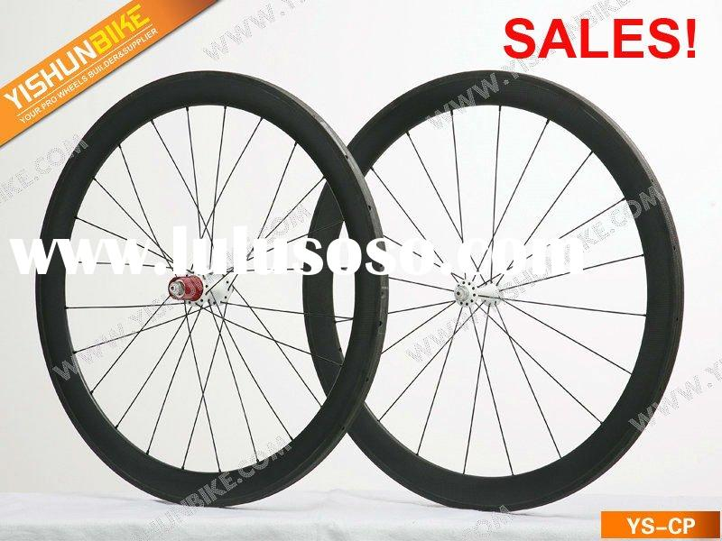 FREE SHIPPING! SALES! YS-CP50T 50MM tubular carbon road bike wheels