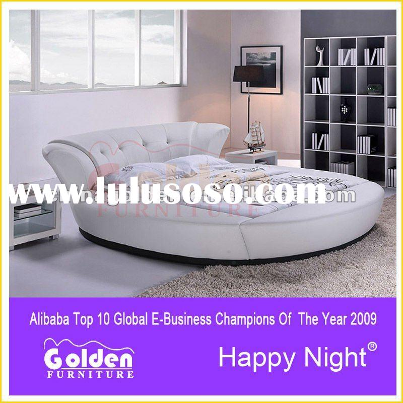 Foshan golden furniture wooden sofa set designs and for Round bed designs with price
