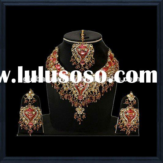 Graceful pakistani bridal jewelry arabic bridal jewelry sets imitation indian bridal jewelry