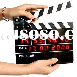 LED electronic red clock clapper board clock