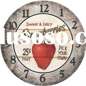 Sweet & Juicy Strawberry Decorative Round Wooden Wall Clocks