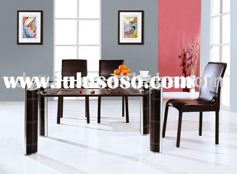 cheap price modern tempered glass dining table