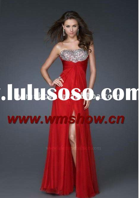 2011 Latest Modern Hot Sale Beaded Sweetheart Red Jovani Prom Dresses