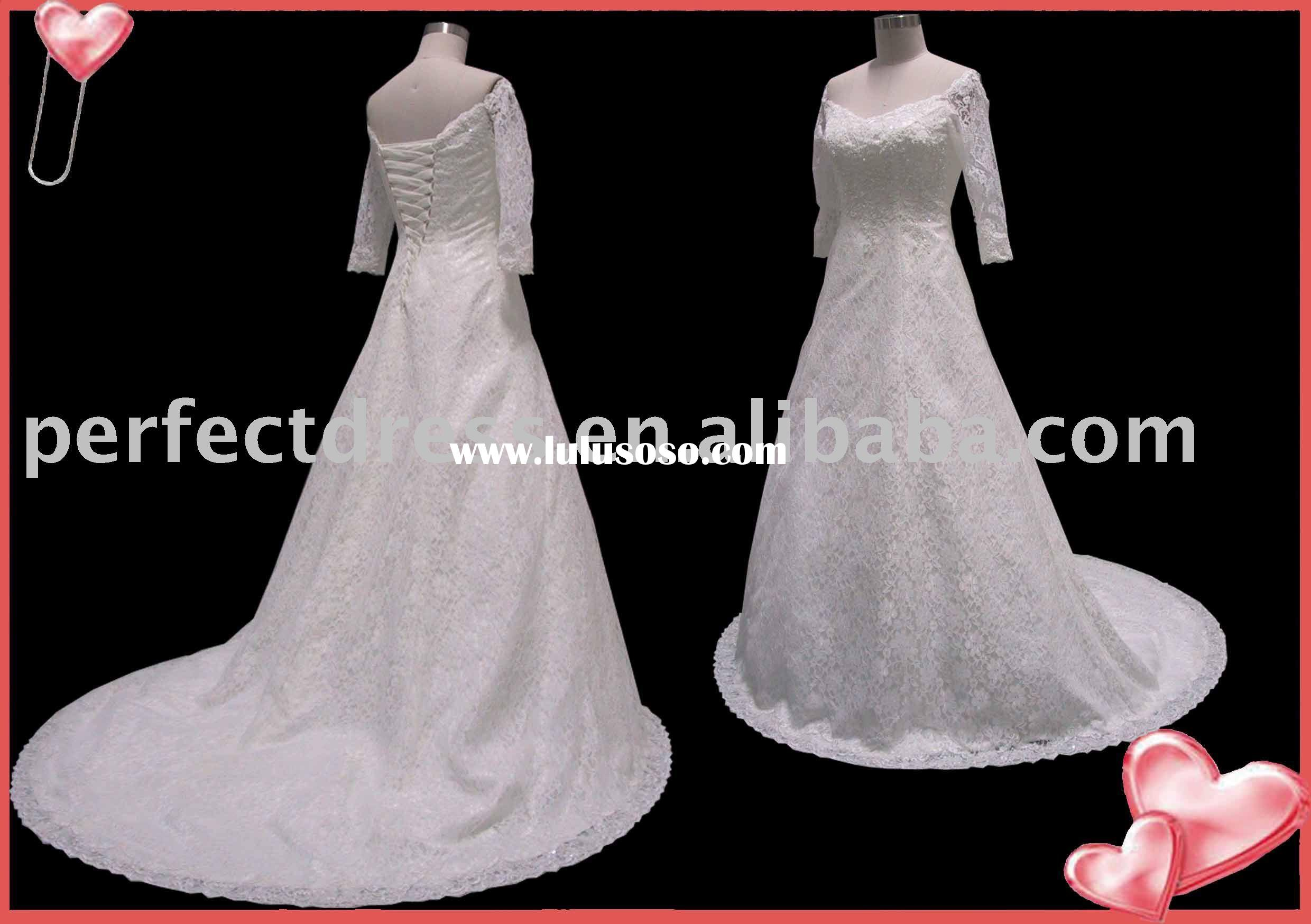 2011 new style lace Long sleeve wedding gowns