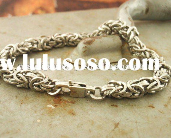 316L stainless steel Square Stainless Steel Byzantine Chainmaille Bracelet Kit - Beyond Basic