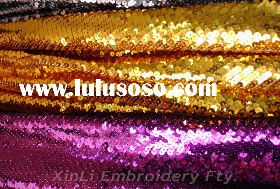 Gold Sequin Wallpaper 5mm Shiny Gold Purple Sequin