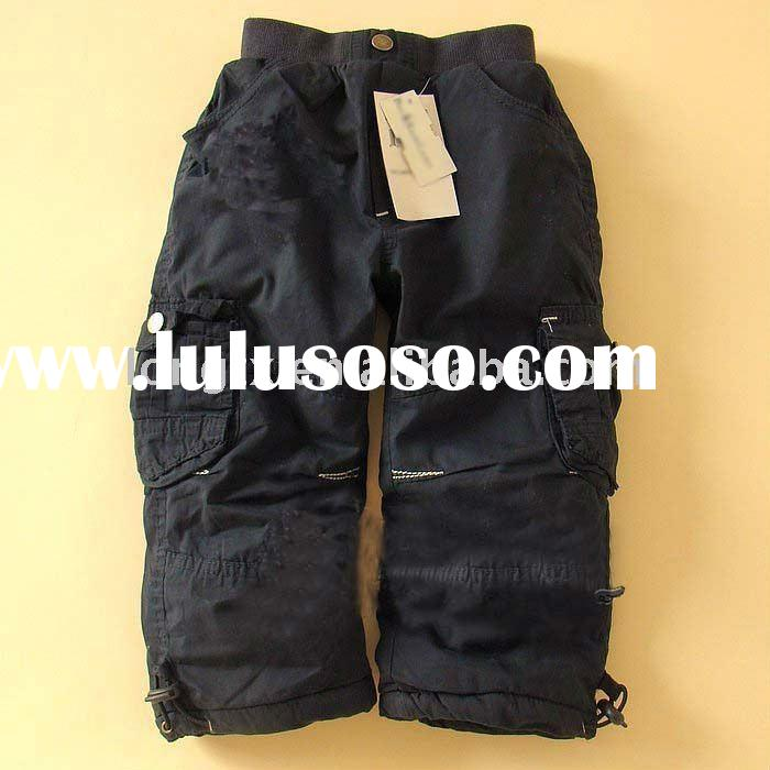 Black casual hot pants for children kids