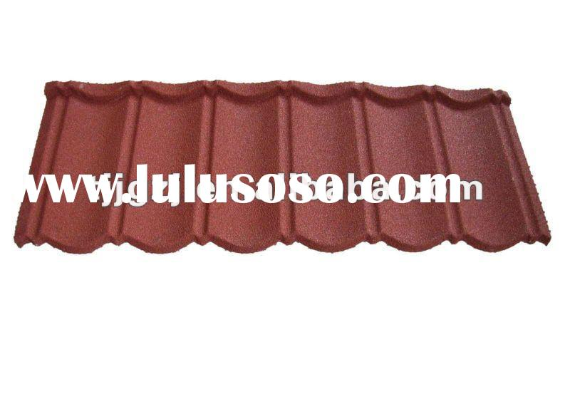Color Stone coated steel roofing tile
