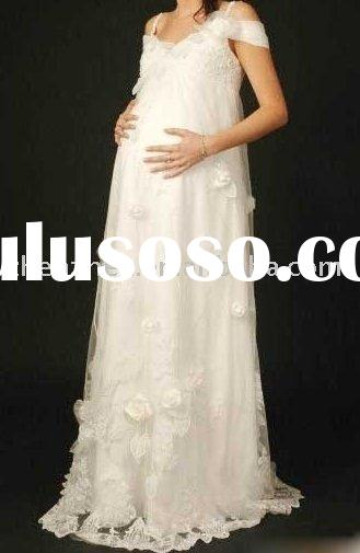 Elegant style Y-3 pretty Pregnant women Wedding Dress