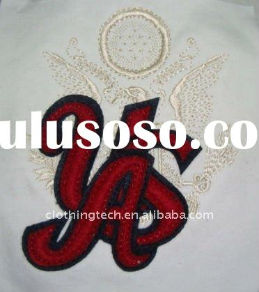 Embroidery fabric applique letters designs for children garments