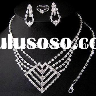 Fashion rhinestone necklace sets indian bridal jewelry sets