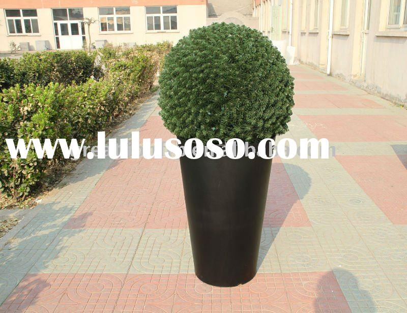 GR0770 black barrel large outdoor plastic planters, big outdoor flower pot