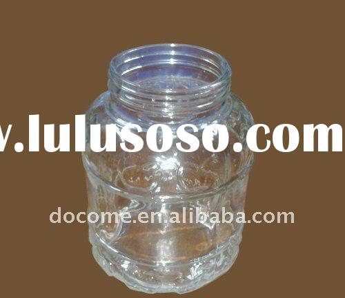 Glass candy pot food container