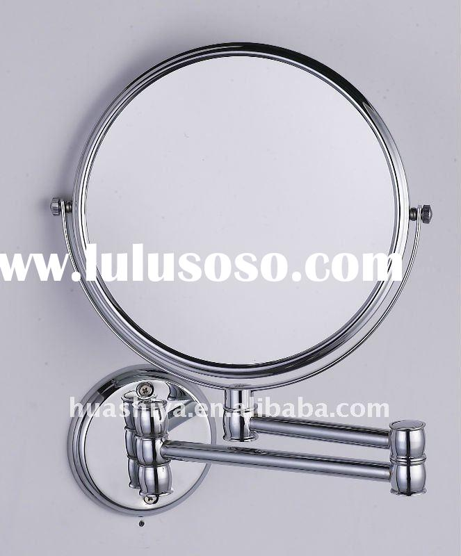 HSY-1338 Wall mounted extendable double side makeup magnifying vanity mirror