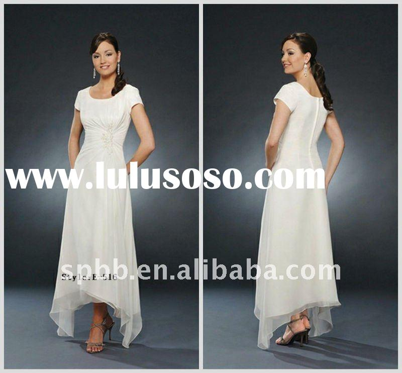 Latest design short sleeve E-516 long style christmas party evening dress