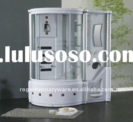 Luxury Bathroom Furniture Glass Enclosed Complete Steam Shower Room With Bathtub