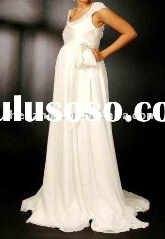 New arrival zhenzhen Y-2 elegant Pregnant women Wedding Dress