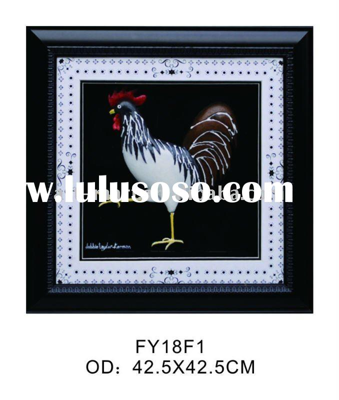 Rooster Framed Print, Rooster Shadow Box
