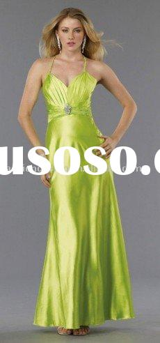 SHE525 Latest fashion halter jersey evening dresses