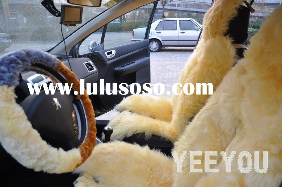 Sheepskin shearing and Rex Rabbit Fur Super soft Car Seat Covers and Steering Wheel Covers 10YY-NX13