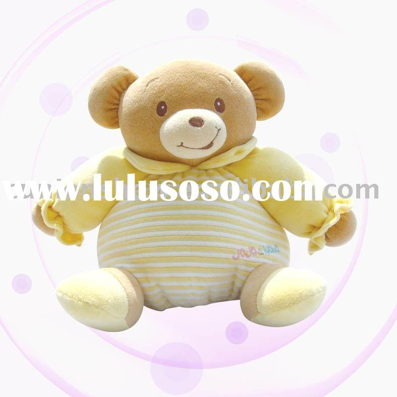 Stuffed toy-organic cotton teddy bear(eco-friendly bear,baby products,manufacturer)
