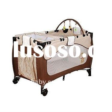 Baby Playard With Curved Standing Mosquito Net For Sale