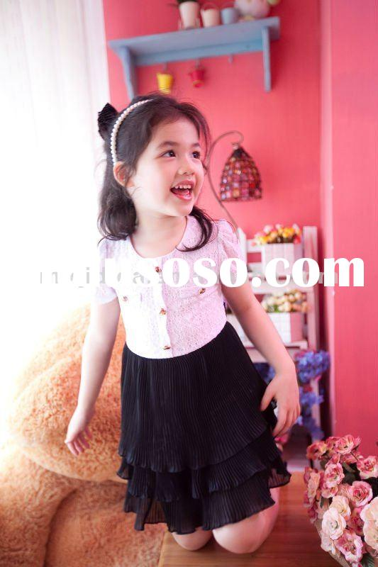 beautiful girl's dress for kids/2-12years old /wholesale,OEM/latest design