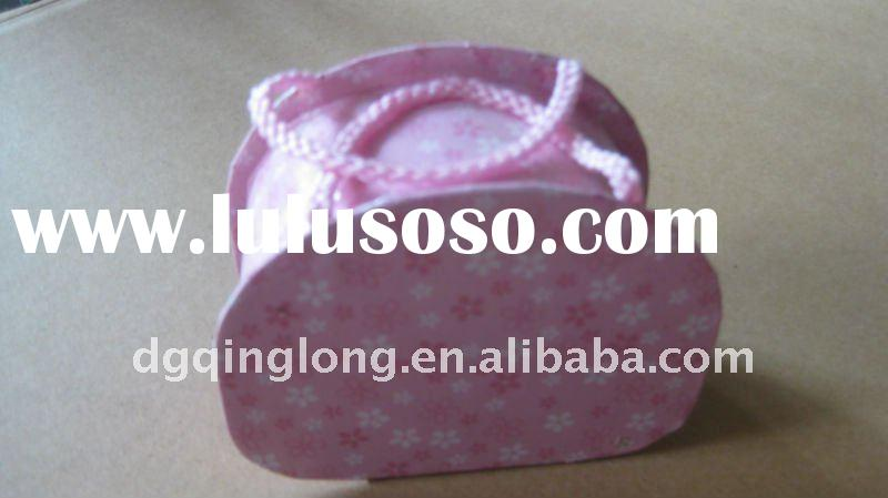 hot product custom pink paper small suitcase gift box