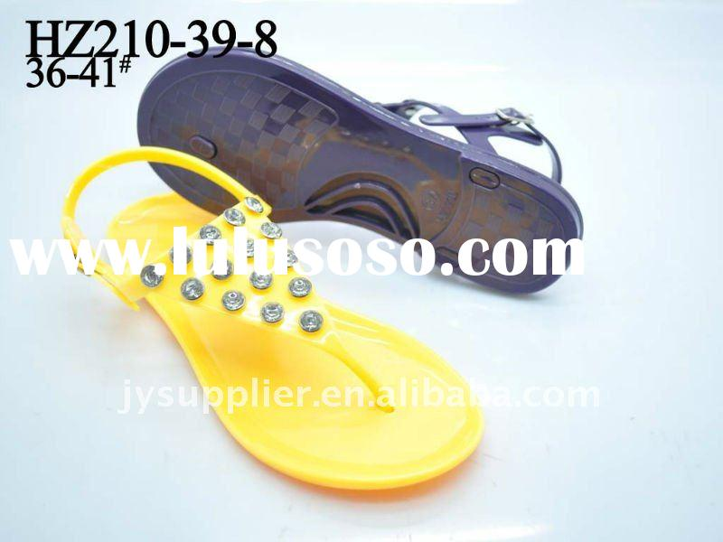 jelly pvc sandals 2012 for women