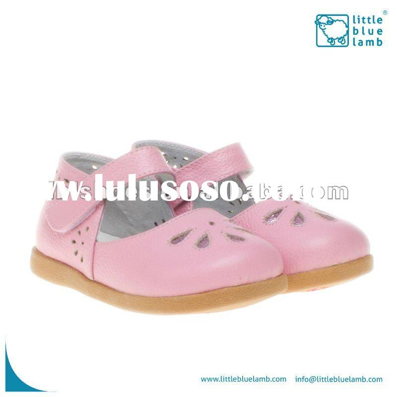 pretty girls' toddler baby leather shoes pink UI-A61005-PK