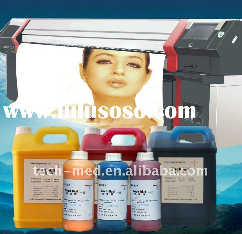 printing vivid color solvent ink for Xaar ,Konica,Spectra heads
