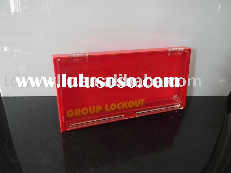 red acrylic key box