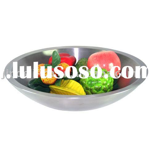 stainless steel fruit bowl double-walled